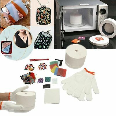 10/15pcs Set Household Microwave Kiln Kit Stained Glass Fusing DIY Jewellery