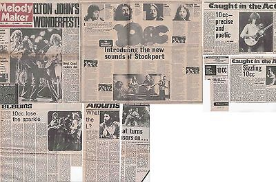 10cc : CUTTINGS COLLECTION -1970s adverts interviews-
