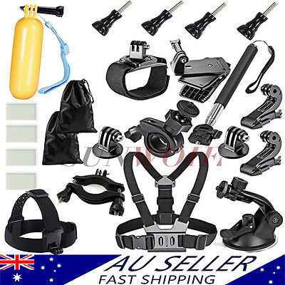 AU Go Pro Camera Accessories Pack Set Kit Monopod for gopro Hero 4 3+ 2 1 5 3