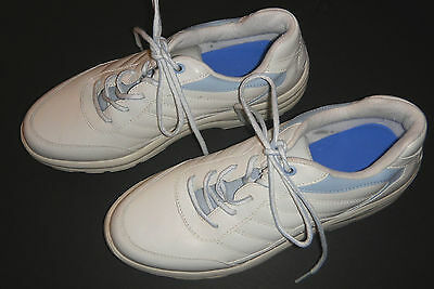 Dr Comfort White Leather Diabetic Walking Sneakers Shoes Women's Sz 9M