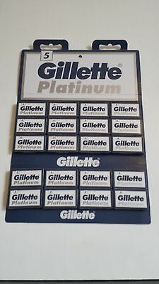 5/10/25/50/100 Gillette Platinum DE double edge razor blades UK stock