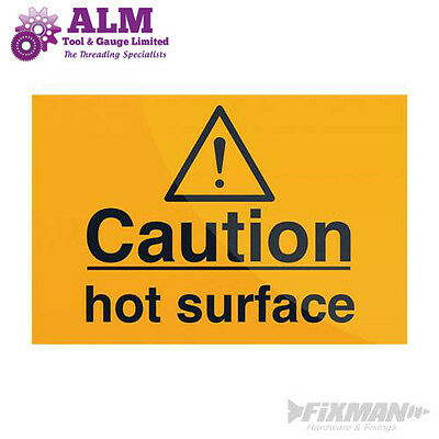 Caution Hot Surface Sign  75 x 50mm Self-Adhesive Sticker