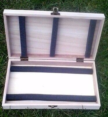 Wooden Float Fishing Tackle Storage Box With  Slotted Foam