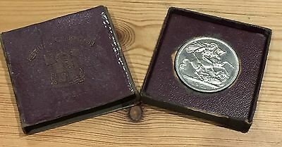 """1951 Uk George Vi """"festival Of Britain"""" Crown Coin With Cardboard Case"""