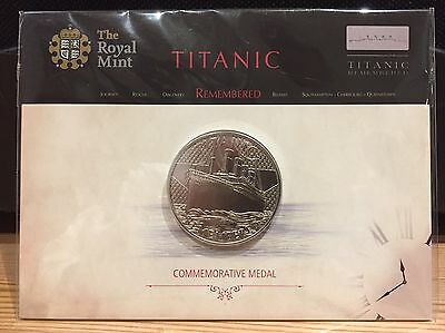Royal Mint - Titanic Remembered - Commemorative Medal / Coin - Sealed In Folder