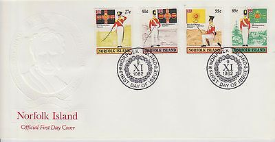 Norfolk Island Millitary set on First Day Cover 1982