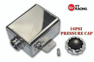 TT Racing Polished Alloy Radiator Expansion Tank Overflow coolant 1.2L 40oz AN8