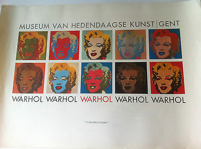 AFFICHE ANCIENNE  de ANDY WARHOL.Marylin MONROE 1967 Rare Litho POP ART