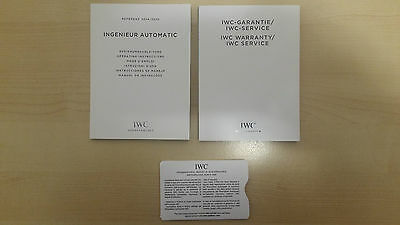 Iwc Ingenieur Automatic Ref. 3224 3225 Operating Instruction + Warranty Booklet