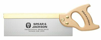 """Spear & Jackson 12"""" Traditional Brass Back Tenon Saw 9550B Tracked Delivery"""