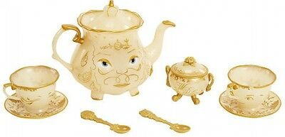 Disney Beauty And The Beast Enchanted Objects Tea Set Baby Kid Play Toy Gift NEW