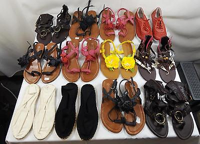 Job Lot Womens Shoes Sandals FlipFlops Various Styles Sizes 3-7 28 Pairs All New