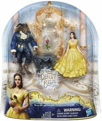 Disney Beauty And The Beast Enchanted Rose Scene Doll Set- Belle and Beast