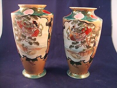 A pair of Nuritake vases pottery