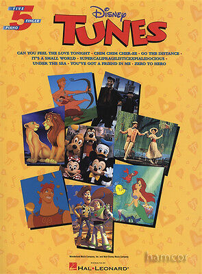 Disney Tunes Five 5 Finger Piano Really Very Easy Sheet Music Book