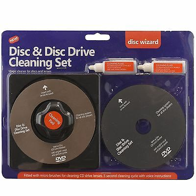2in1 Laser Lens Disc Cleaner Cleaning Kit Ps3 Xbox One/360 Blu Ray DVD Player CD