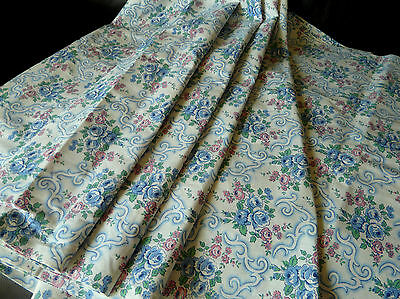 1930s French Art Deco Mix colour roses pattern fabric organic 100% cotton