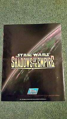 Topps Star Wars - Shadows Of The Empire Trading Card Sell Sheet