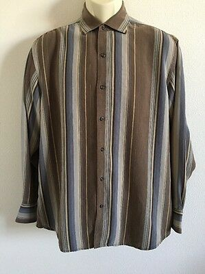 Men's Tommy Bahama Long Sleeve Button Front Shirt Shirt Medium To Large