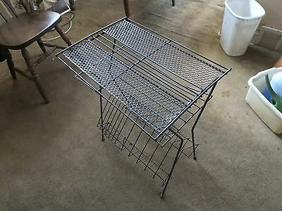 VINTAGE ALBUM/RECORD RACK/STAND/HOLDER LP'S  Metal BLACK Wire