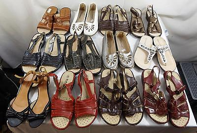 Job Lot Womens Sandals FlipFlops Various Colours Styles Sizes 3-8 42 Pairs New