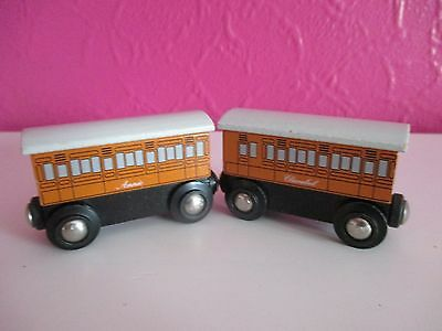 Wooden (Brio) Magnetic Annie And Clarabel From Thomas The Tank Engine
