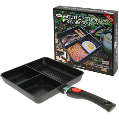 New NGT Multi Section 3 Way Cooking Non Stick Frying Pan Camping Carp Fishing