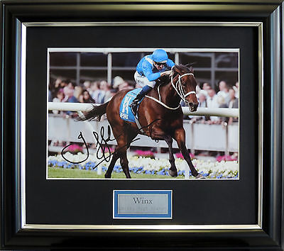 Winx And Hugh Bowman Photo Signed And Framed Horse Racing Memorabilia