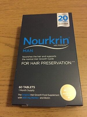Nourkrin Man Hair Nutrition Programme - 60 Tablets 1 Month Supply