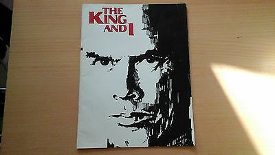 The King And I Offical Programme - Yul Brynner 1979