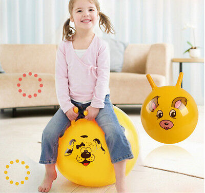 Inflatable Bouncing Ball Sport Toy Cartoon Animal Educational Toy Ball for Baby~