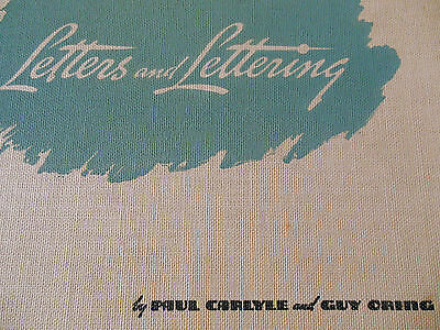 Vintage 30's Letters & Lettering Reference Book by Paul Carlyle & Guy Oring.