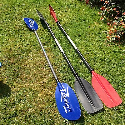 Kayak paddles (TNP right hand, TNP left hand and Robson Stud right hand)