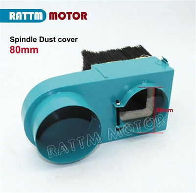 New 80mm Diameter Spindle Dust Cover Woodworking Cleaner for CNC Router Machine