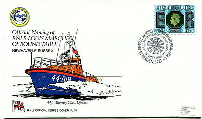 1977 RNLI Official cover No. 34 naming RNLB Louis Marchesi Round Table SHS
