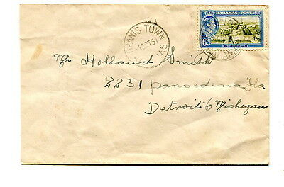 "Bahamas 1951 6d. on commercial cover ""GRANTS TOWN"" to Michigan U.S.A."