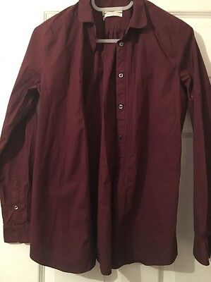 Barbour Maroon Fitted Shirt