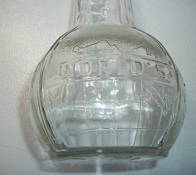 Vintage 1939/1940 World's Fair Long Neck Clear Bottle .