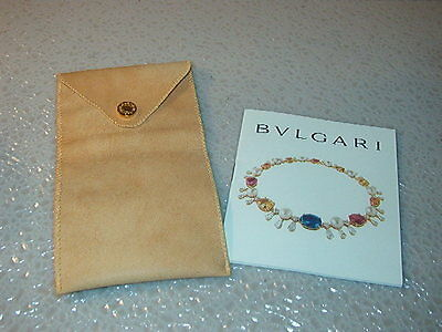 BVLGARI - Authentic Bracelet Leather Pouch with Booklet - FREE S/H