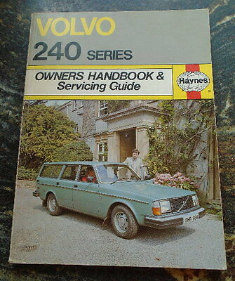 Haynes Volvo 240 series Owners Handbook Servicing Guide Very good condition