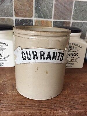 Early 20th Doulton CURRANTS Storage Jar c.1910 Stoneware