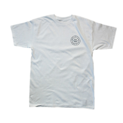 ea58541859322 BRIXTON - OATH Standard T-Shirt - White Light Grey SALE -  39.20 ...
