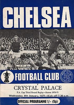 CHELSEA v CRYSTAL PALACE - 6th January 1971 - FA Cup Third Round Replay