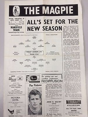 NOTTS COUNTY v MANSFIELD TOWN ~ LEAGUE CUP 1ST ROUND ~ 24 AUGUST 1966