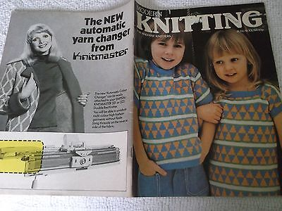 VINTAGE MODERN KNITTING MAGAZINE for MACHINE KNITTERS JULY/AUGUST 1976