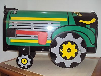 John Deere ? Green Tractor Mail Box The Solar Group