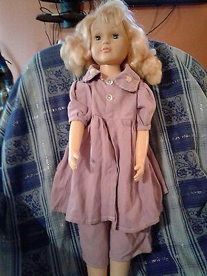 """Vintage Uneeda 30"""" Plastic Doll TS20 - Blonde Hair - Blue Eyes Open and Close"""