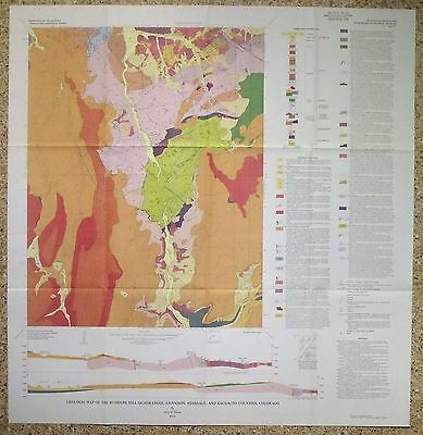 USGS RUDOLPH HILL, COLORADO GEOLOGIC MAP, Full Color Map Original Sleeve 1974