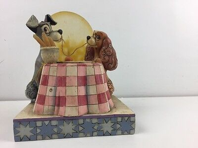 "RARE Lady And The Tramp ""A Moonlit Romance"" Disney Showcase Collection Enesco..."