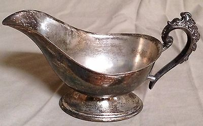 Antique Silver Plated Gravy Boat